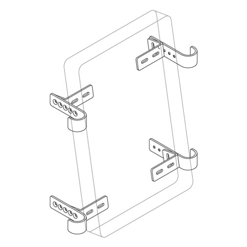 "Adjustable Drop Angle Kit, 1"" Tube Diameter, 90° Brackets, Quick Clamp™ & Horseshoe Clips"