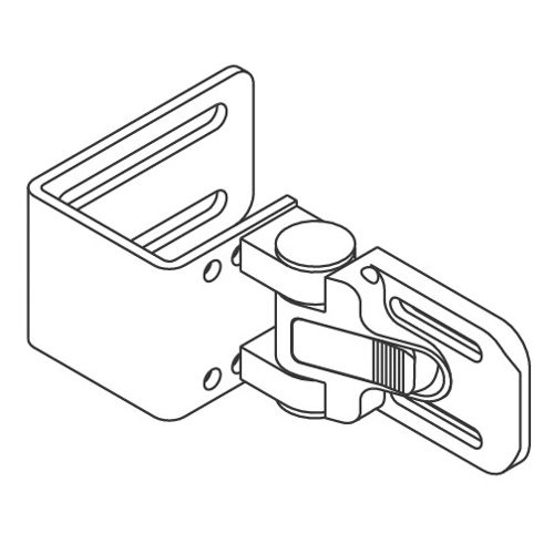 "QuickPlus Lateral Bracket, C-Style, 1"" Slot Spacing"