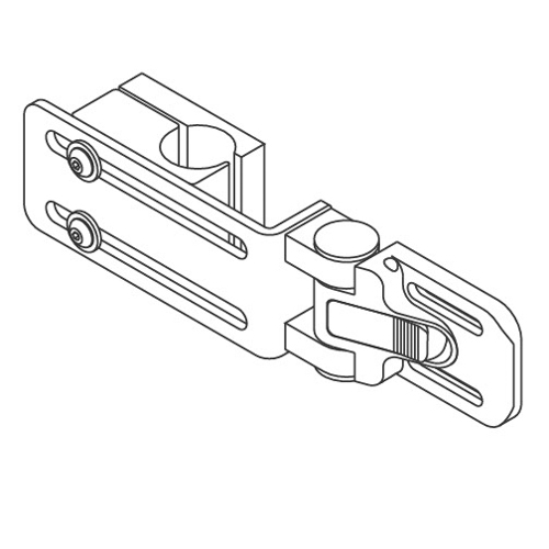 "QuickPlus Lateral Bracket, Clamp, 1"" Tube Diameter, 1"" Slot Spacing"