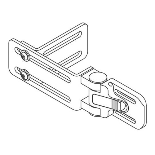 "QuickPlus Lateral Bracket, Adjustable L-Style, 1"" & 2"" Slot Spacing"